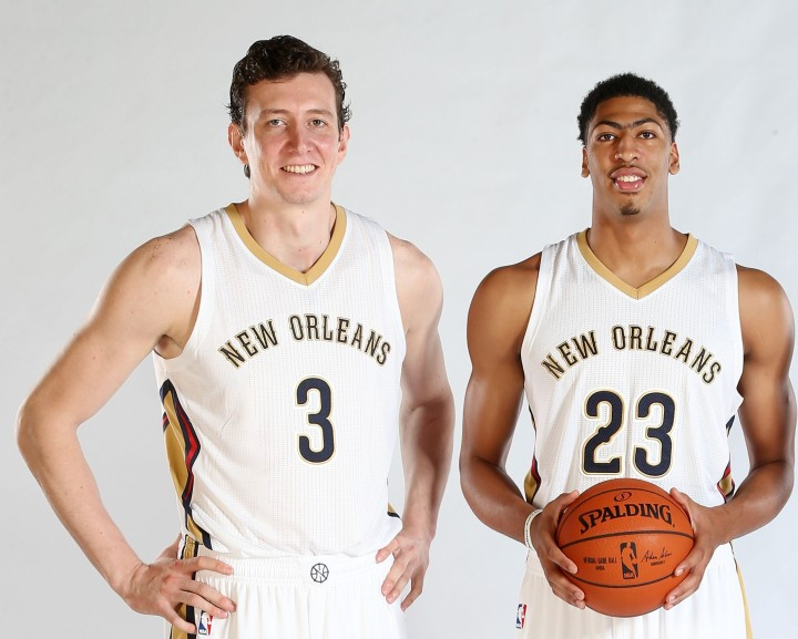 With Omer Asik next to Anthony Davis, the Pelicans now have a formidable front line. (Getty Images)