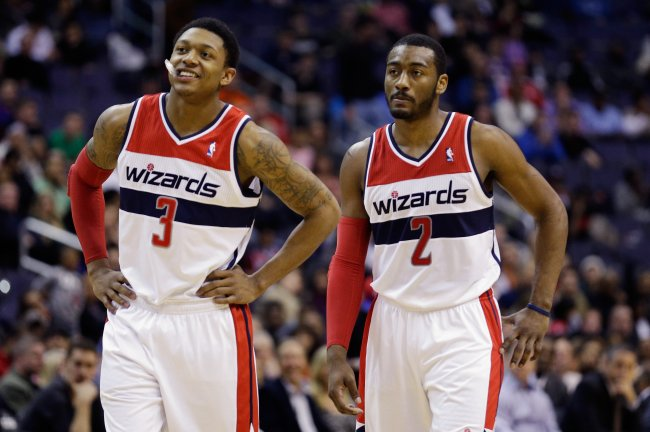 How will Wall and the Wiz fare without Bradley Beal in the lineup to begin the year? (Rob Carr/Getty Images)