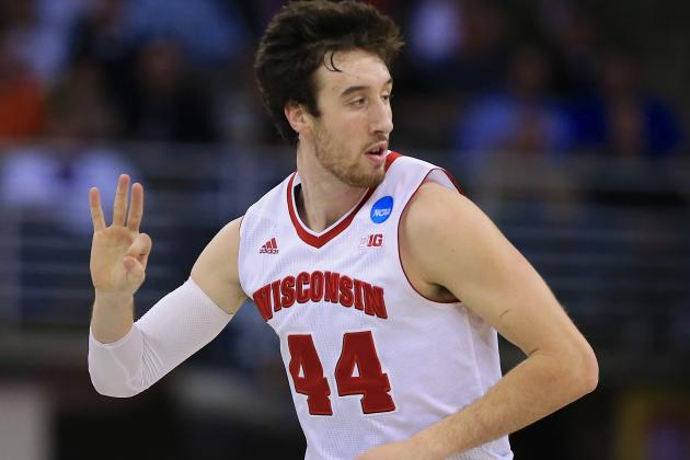 Frank Kaminsky's Badgers are in the Final Four yet again. Can he parlay that momentum into a lottery selection come June? (Ann Heisenfelt/Associated Press)