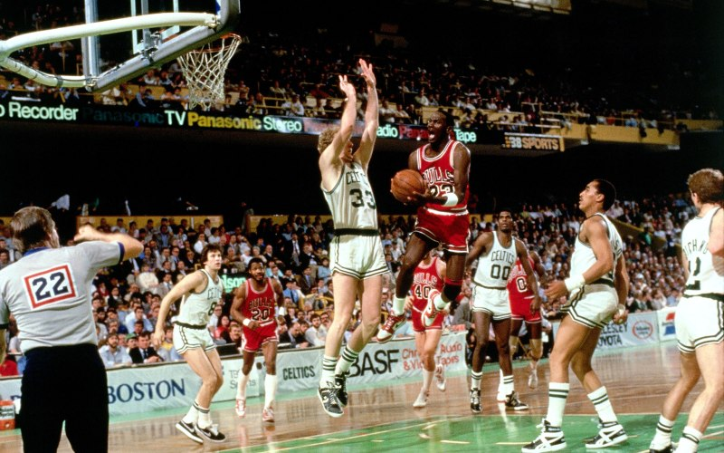 MJ's 63 points, in 1986, still stands as a playoff-record. (Dick Raphael/NBAE via Getty Images)