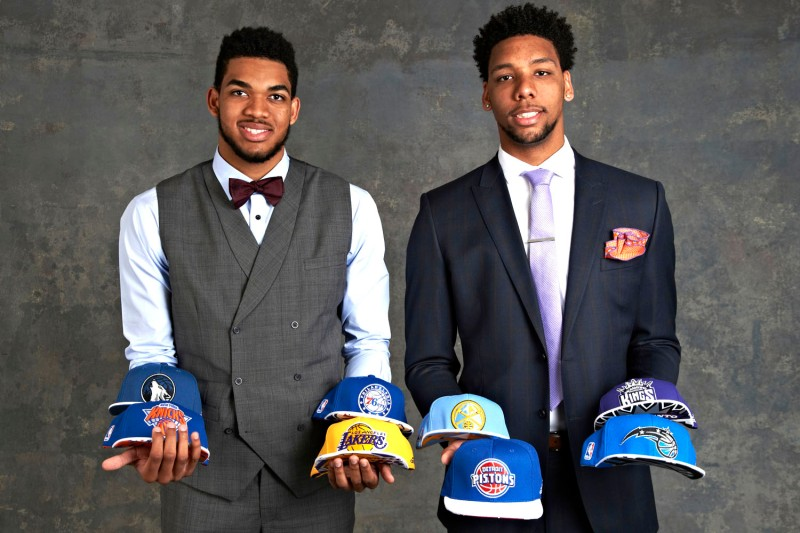 Karl-Anthony Towns & Jahlil Okafor could be headed west in a few weeks. (Jennifer Pottheiser/NBAE via Getty Images)