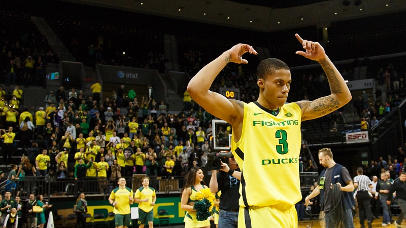 Oregon's Joseph Young is one of many sleepers later on in the draft. (Ryan Kang/Emerald)