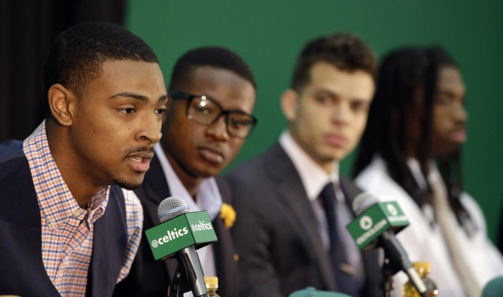 Which Celtics rookie has the best chance to stand out in 2015-16? (AP Photo)