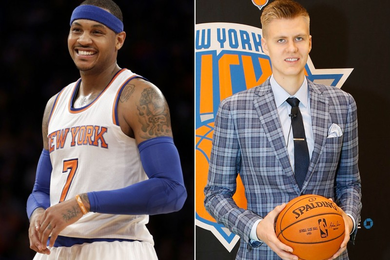 Melo and Zinger take Manhattan! (Charles Wenzelberg/AP)