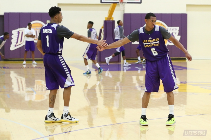 If Russell & Clarkson mature quickly, they will take a lot of pressure off Kobe in his 20th season. (via Lakers.com)