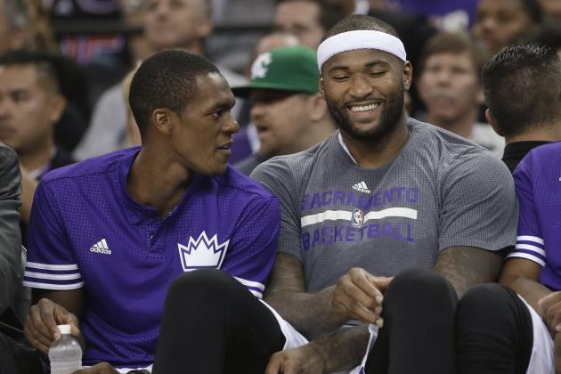 Rajon Rondo and DeMarcus Cousins are an interesting fit to say the least. (Rich Pedroncelli/Getty Images)