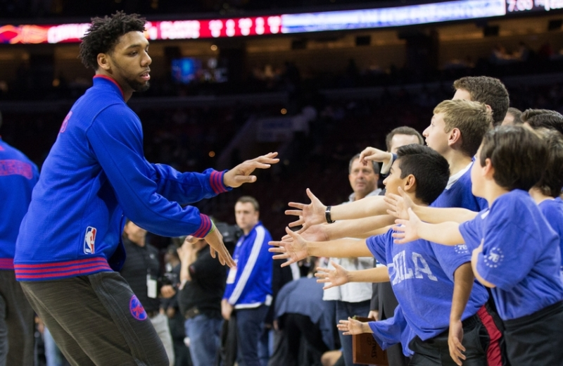 Jahlil Okafor is the star Sixer fans have been hoping for. (Bill Streicher/USA TODAY Sports)
