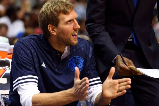 Dirk and the Mavs are gearing up for a playoff run. (Kevin Jairaj/USA TODAY Sports)