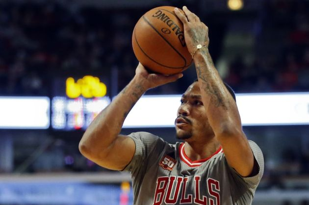 Derrick Rose + Clyde Frazier will produce some memorable moments this year. (Kamil Krzaczynski/USA TODAY Sports)