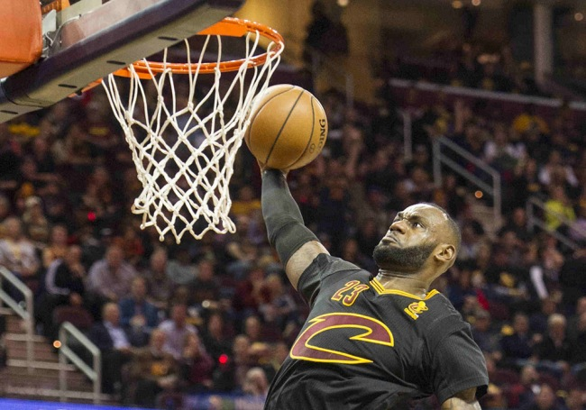 LeBron did this a lot in Cleveland's 29-point, Opening Night victory. (USA TODAY Sports)